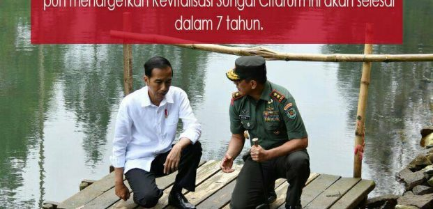 Jokowi Targetkan Revitalisasi Sungai Citarum Selesai Dalam 7 Tahun