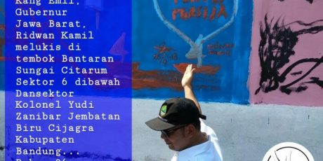 """""""Lukisan Perdamaian"""" di Bantaran Sungai Citarum Sebagai Penghantar Menuju Sungai Citarum Yang Indah dan Damai"""