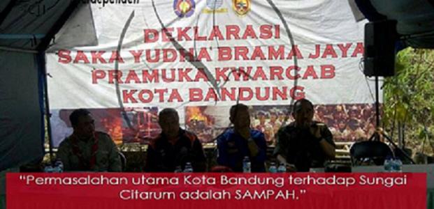 Permasalahan utama Kota Bandung terhadap Sungai Citarum adalah SAMPAH