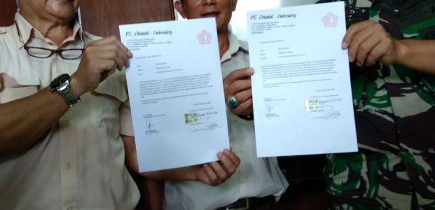 Dansektor 21 Satgas Citarum Harum Kolonel Infr Yusep Sudrajat Memberi Waktu 7 Hari Kepada PT Oriental Embroidery Untuk Perbaiki Limbah Beracunnya